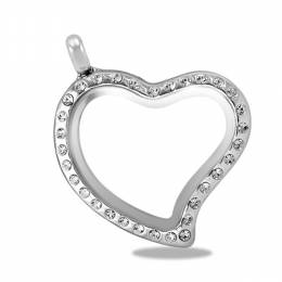 Forever in My Heart Silver CZ Heart Locket