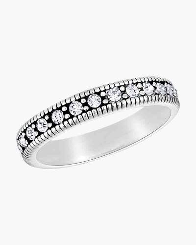 Cubic Zirconia Eternity Ring in Silver