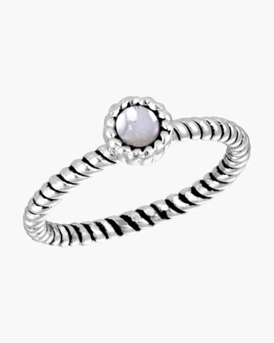 Round Twist Cubic Zirconia Ring in Silver
