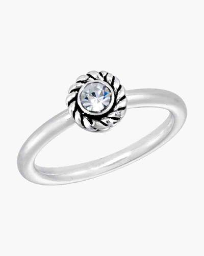 Round Cubic Zirconia Ring in Silver