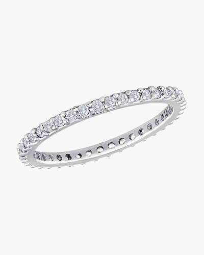 Thin Cubic Zirconia Ring in Silver
