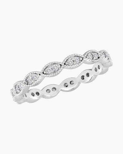 Cubic Zirconia Endless Oval Ring in Silver
