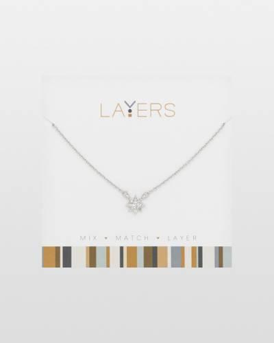 Cubic Zirconia Starburst Necklace in Silver