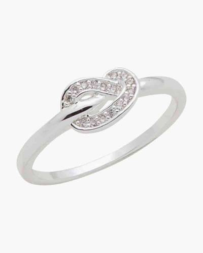 Sailor's Knot Cubic Zirconia Ring in Silver