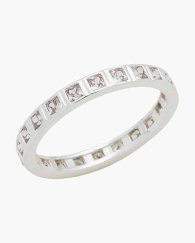 Square Cubic Zirconia Ring in Silver