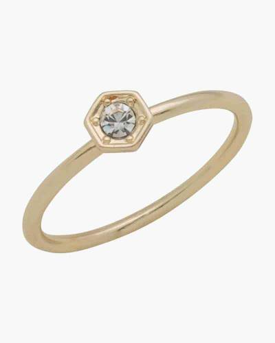 Gold Crystal Layer Ring