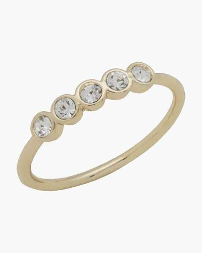 Gold Five Crystal Layer Ring