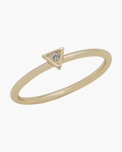 Gold Triangle Crystal Layer Ring