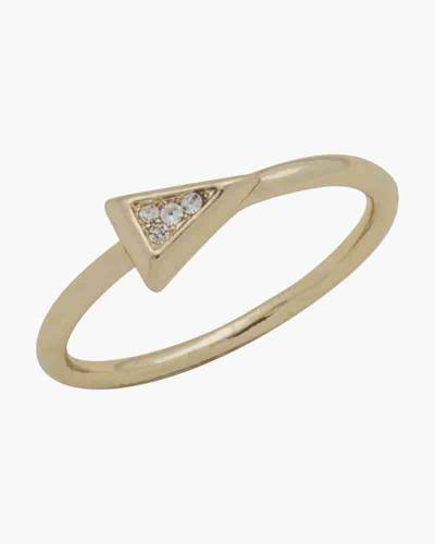 Gold Crystal Arrow Layer Ring