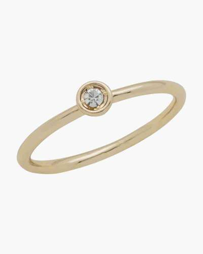 Gold Round Crystal Layer Ring