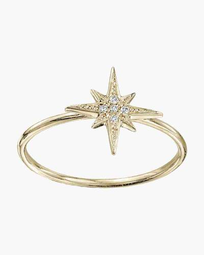 Gold Crystal Star Layer Ring