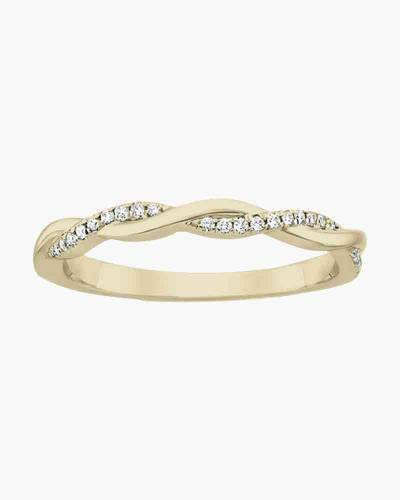 Gold Crystal Infinity Layer Ring