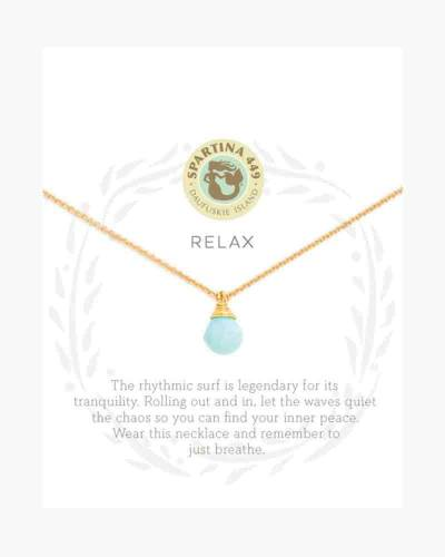 Relax Water Drop Sea La Vie Necklace (16-inch)