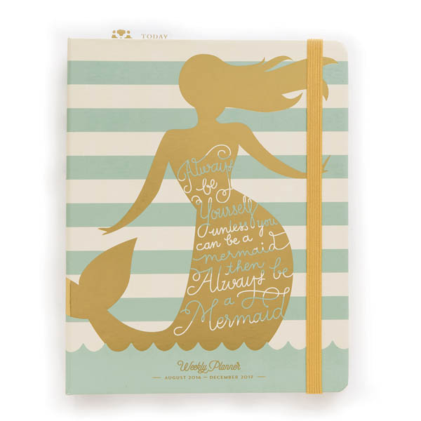 Spartina 449 Large Weekly 2016-2017 Planner in Always a Mermaid