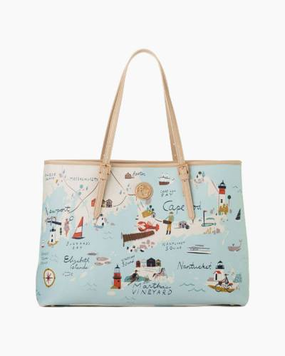 Northeastern Harbors Map Tote Bag