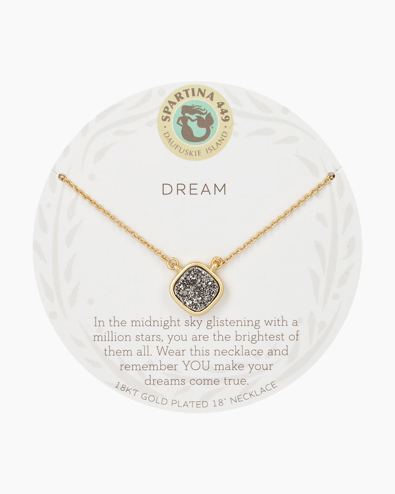 Spartina 449 Dream Druzy Gold Necklace
