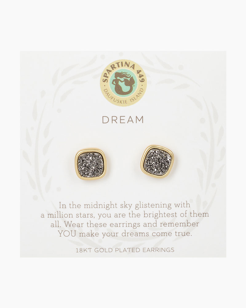 Spartina 449 Dream Druzy Gold Earrings