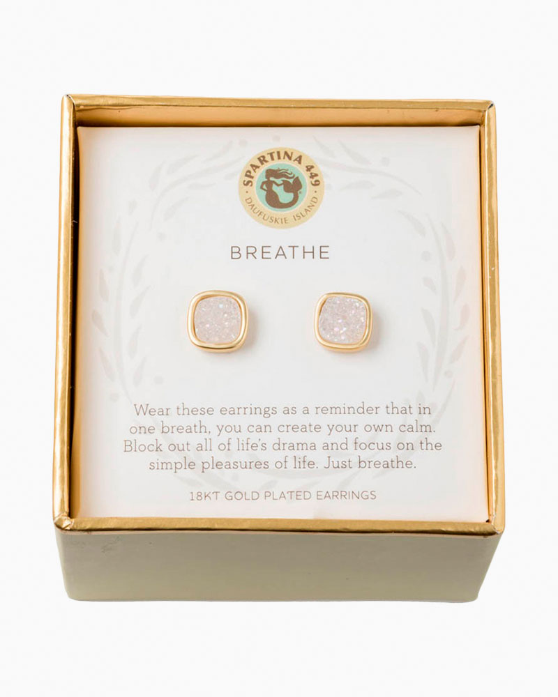 Spartina 449 Breathe Druzy Gold Earrings