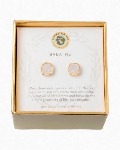 Breathe Druzy Gold Earrings