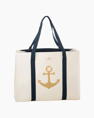 Gold Anchor Carry All Tote