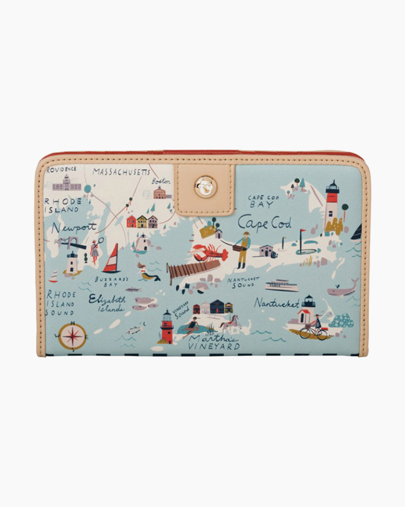Spartina 449 Snap Wallet in Northeastern Harbors