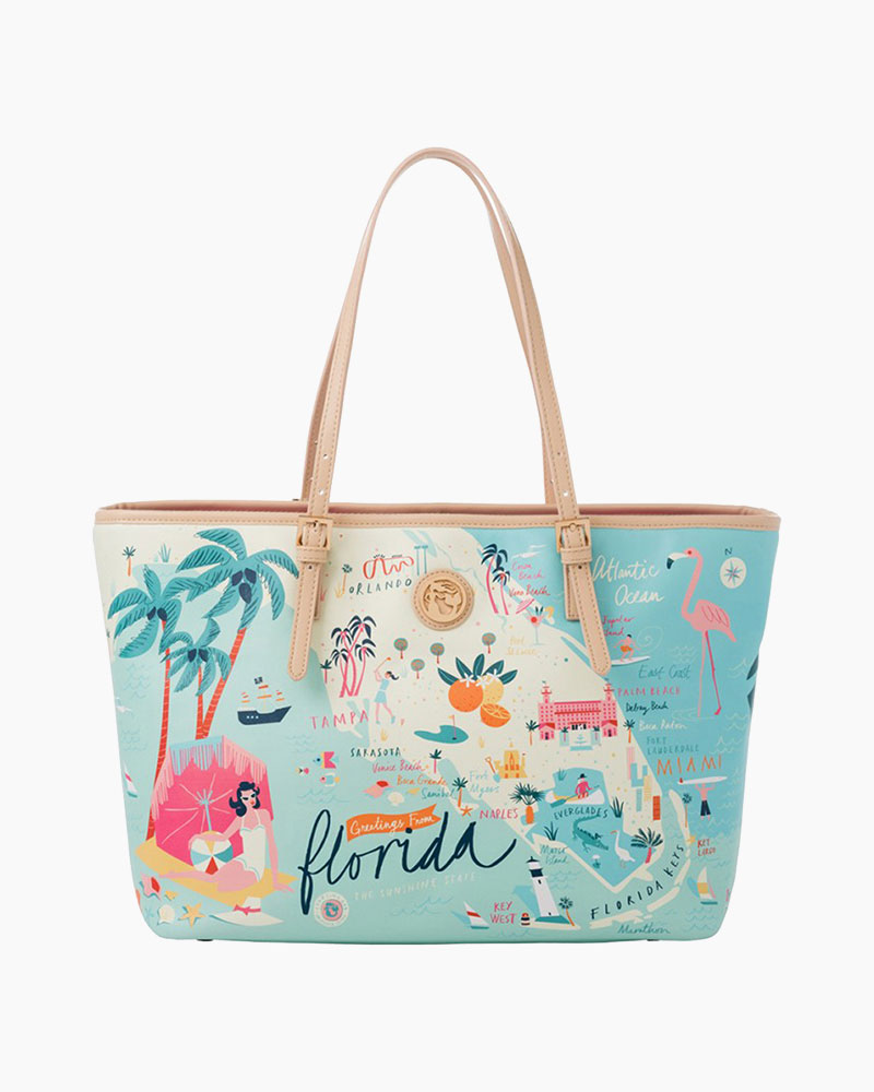 Spartina 449 Florida Map Tote Bag The Paper Store