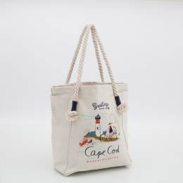Spartina 449 Greetings from Cape Cod Canvas Tote