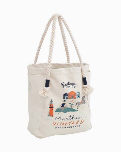 Greetings from Martha's Vineyard Canvas Tote