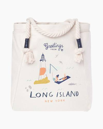 Greetings from Long Island Canvas Tote