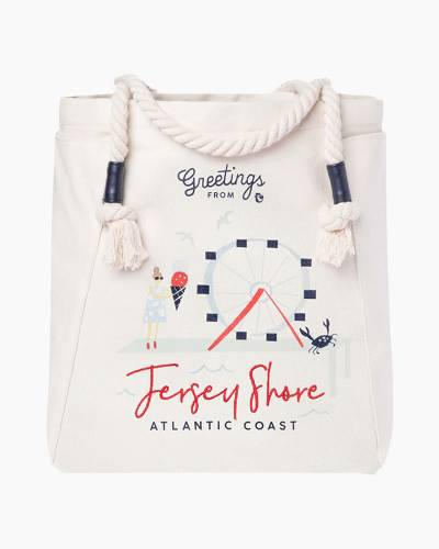 Greetings from Jersey Shore Canvas Tote