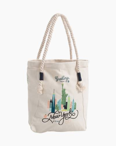 Greetings from New York Canvas Tote