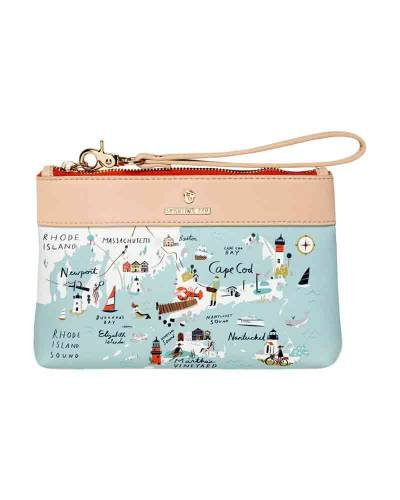 Northeastern Harbors Map Zip Wristlet