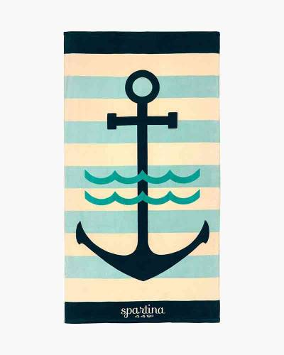 Anchor Stripe Beach Towel