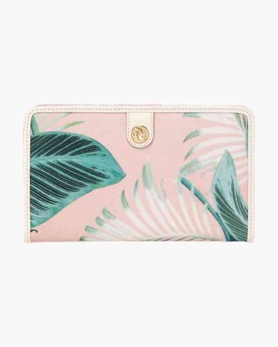 Cabana Leaf Snap Wallet