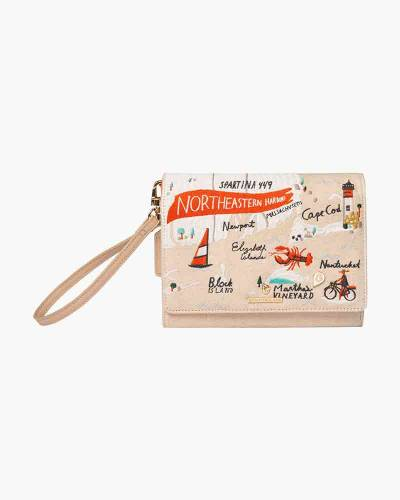 Northeastern Harbors Embroidered Convertible Crossbody