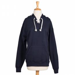 Too Cool Navy Blue Drawstring Hoodie