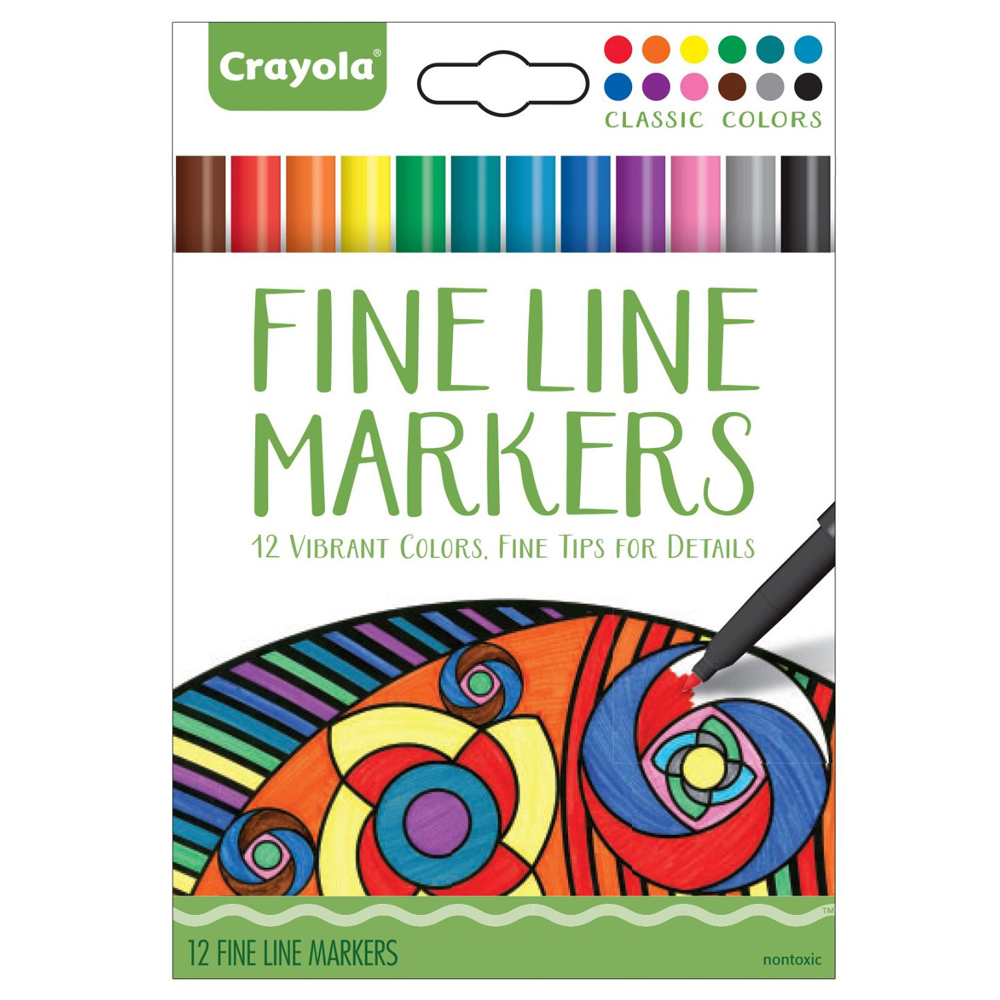 Crayola Fine Line Markers (12 Count)