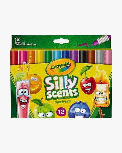 Silly Scents Washable Chisel Tip Markers (12-Pack)