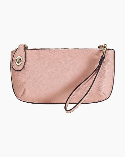 Convertible Crossbody Bag and Wristlet in Pale Pink