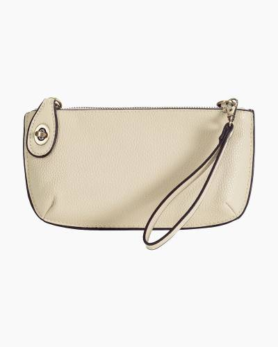 Wristlet Clutch in Metallic Pearl