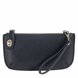 Joy Susan Wristlet Clutch in Black