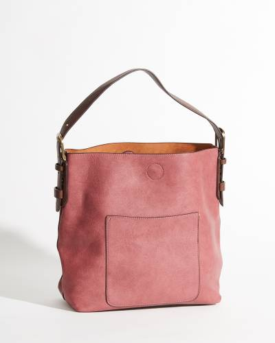 Classic Hobo Bag and Pouch Set in Dark Raspberry