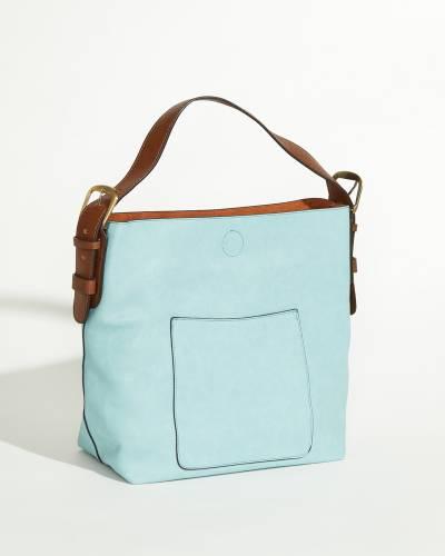 Hobo Slouch Bag in Light Denim
