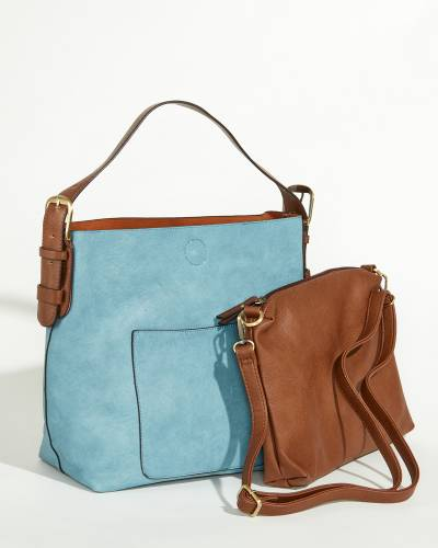 Classic Hobo Bag and Pouch Set