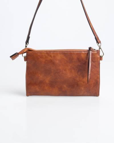 Convertible Crossbody Bag in Cognac