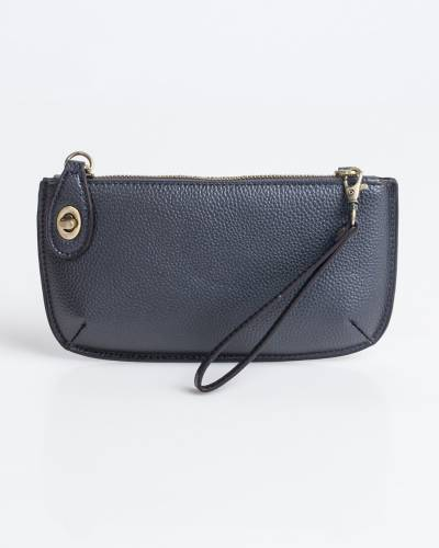 Wristlet Clutch in Metallic Blue