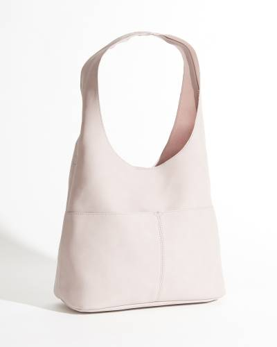 Jenny Faux Suede Hobo Handbag