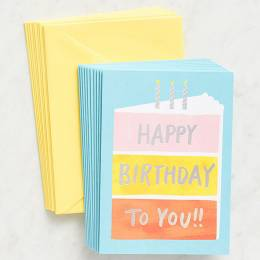 Waste Not Paper Birthday Cake Boxed Notes