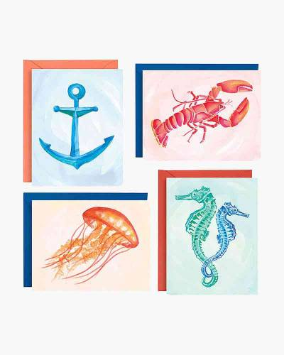 Watercolor Seaside Assorted Boxed Notes