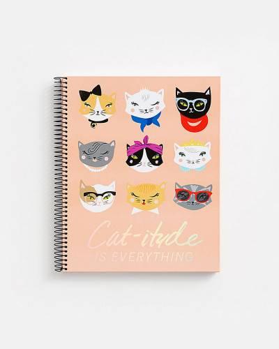 Cat-Itude Spiral Notebook